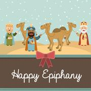 Happy ephipany over  sky background vector illustration Stock Illustration