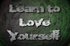 learn to love yourself concept - stock illustration