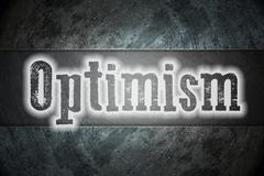 Optimism concept Stock Illustration