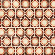 retro label over pattern background vector illustration - stock illustration