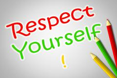 Respect yourself concept Stock Illustration