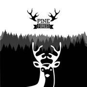 hunting design over white background vector illustration - stock illustration