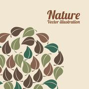Stock Illustration of nature design over pink background vector illustration