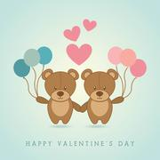 Stock Illustration of happy valentines day  design over   background vector illustration