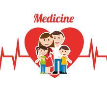 Medicine  design over white background vector illustration Stock Illustration