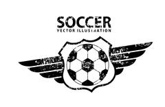 Soccer design over white  background  vector illustration Stock Illustration