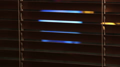 Blinds and window Stock Footage