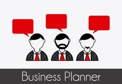 Stock Illustration of business planner over gray background vector illustration