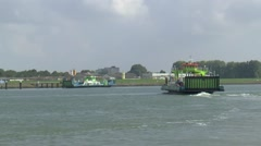 Sailing the New Waterway Stock Footage
