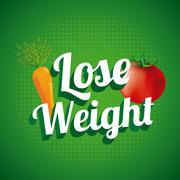 Lose weight over green background  vector illustration Stock Illustration