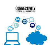 Stock Illustration of connectivity icons over  white background vector illustration