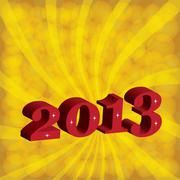 new year 2013. - stock illustration