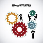 Human resources over gray background vector illustration Stock Illustration