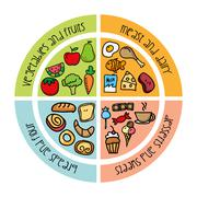 Nutrition design over white background vector illustration Stock Illustration
