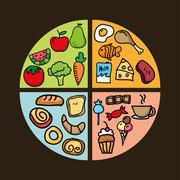 nutrition design over black background vector illustration - stock illustration