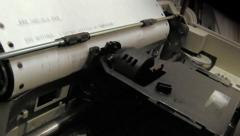 Dot Matrix Printer -  Left angle close up. Stock Footage