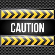 Caution tape over black background vector illustration Stock Illustration