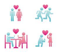 Couple design over white background vector illustration Stock Illustration