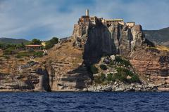 Capraia island castle and fortification Stock Photos