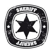 Stock Illustration of sheriff sela over white background vector illustration