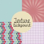 Texture design over different backgrounds vector , illustration Stock Illustration