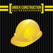 Under construction over black background vector illustration Stock Illustration