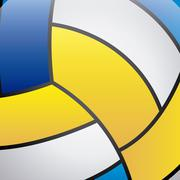 volleyball skin over ball  background vector illustration - stock illustration