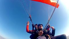 Tandem paragliding test Stock Footage