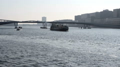 Amsterdam view from bridge Stock Footage