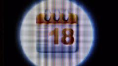 Show calendar Stock Footage