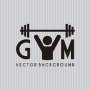 gym symbol over gray background. vector illustration - stock illustration