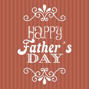 Fathers day over red background. vector illustration Stock Illustration
