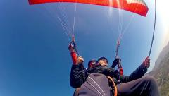 Test tandem paragliding Stock Footage