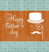 fathers day card, retro style. vector illustration - stock illustration