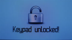 Unlock the keypad - stock footage