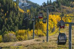 Aspen ski lift Stock Photos