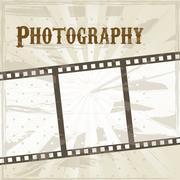 film stripe over beige background. vector illustration - stock illustration