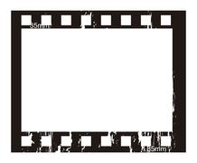 film stripe over white background. vector illustration - stock illustration
