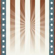 american background with stars and flag. vector illustration - stock illustration