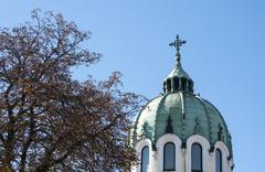 Orthodox church dome - stock photo
