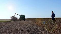 Soybean harvest Stock Footage