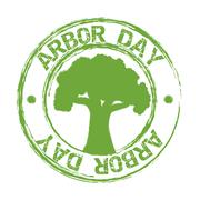 arbor day over white background. vector illustration - stock illustration