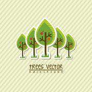arbor day over beige background. vector illustration - stock illustration