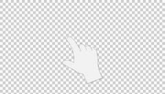 Hand gesture Scroll Down Stock Footage