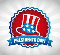 Stock Illustration of presidents day background, united states. vector illustration