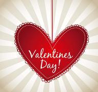 Stock Illustration of valentines day card over beige background. vector illustration