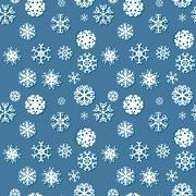 Snowflakes winter seamless texture, endless pattern Stock Illustration