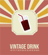 Cola drink announcement, vintage style. vector illustration Stock Illustration
