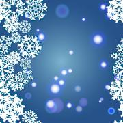 snowflakes winter seamless border, seamless texture, endless pattern - stock illustration