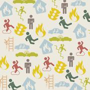 accident icons over beige background. vector illustration - stock illustration